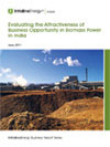 Evaluating the attractiveness of business opportunity in Biomass Power in India